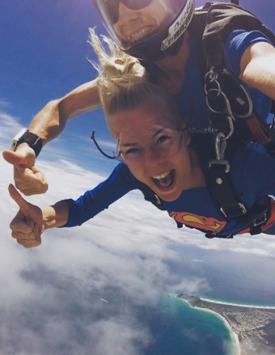 Sky Diving in the Gold Coast - amazing experience, just don't do it with a cold...