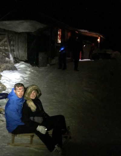 Night time sledging in Switzerland- great experience!