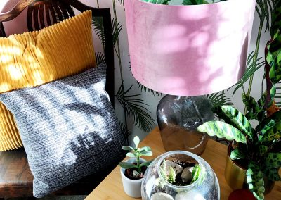 Living room - Plants- lampshade- (Gifted by Cheeky Pickle Lampshades- Decorating