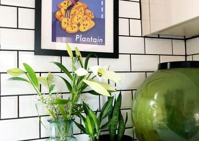 Kitchen- Plants - Plantain Print by Nadia Akingbule- Decorating