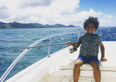 Sea Fishing Antigua - With the kids
