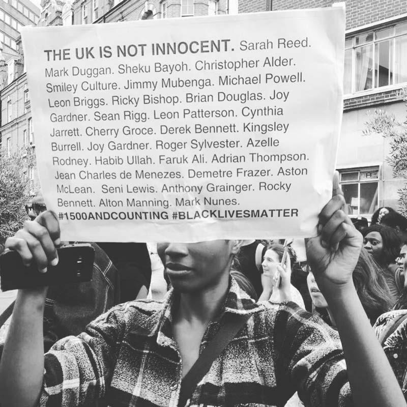 Black Lives Matter - https://www.instagram.com/blmldnmovement/