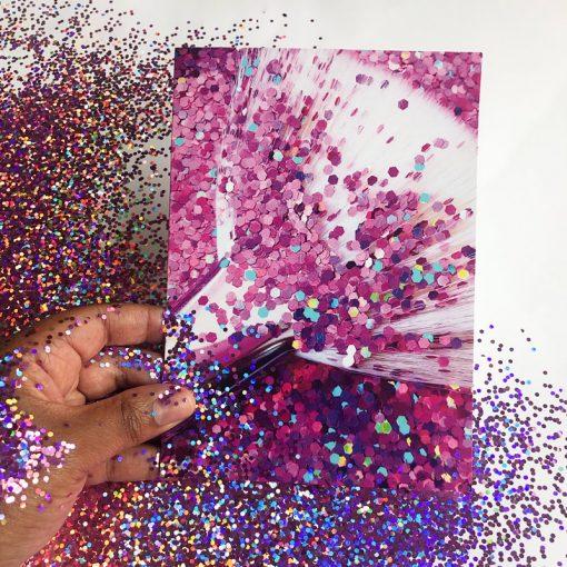 Glitter with make up brush