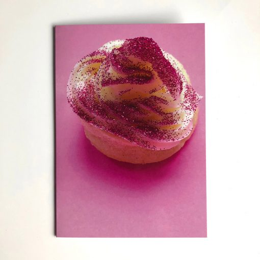 Glitter cake greetings card