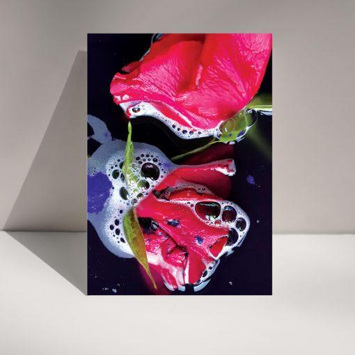 Inked Rose - Blank Greetings card