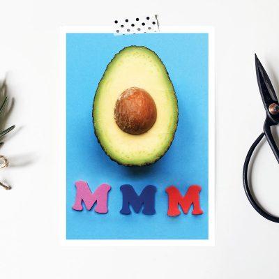 Avocado Postcard