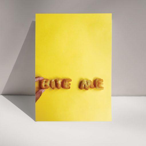 Bite me - Blank greetings card