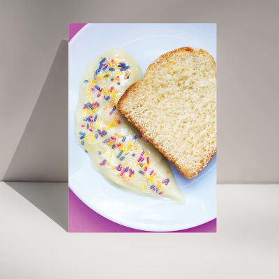 CUSTARD AND SPONGE - Greetings card