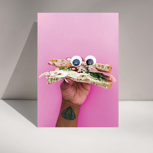 Sandwich monster - blank greetings card