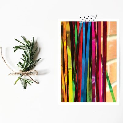 Rainbow Streamers postcard