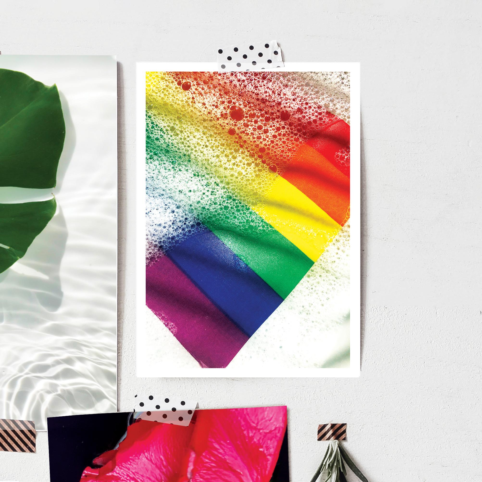 Rainbow Bubble Connection postcard