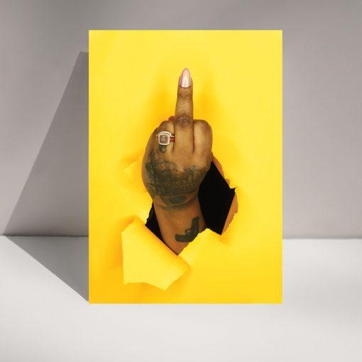 Yellow Bird - Greetings card