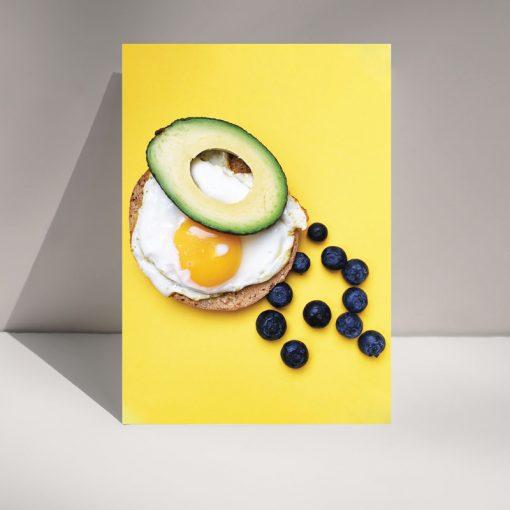 Mornin' Blueberries - Blank greetings card