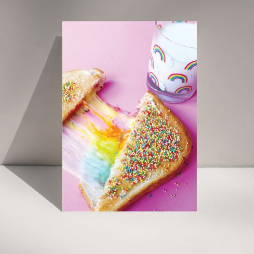 RAINBOW TOASTY - Blank Greetings card
